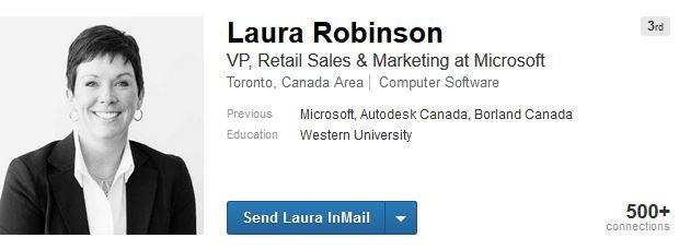 Laura Robinson Microsoft linkedin