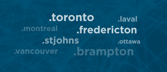 domains of Canadian cities