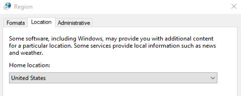 Windows 10 region switch