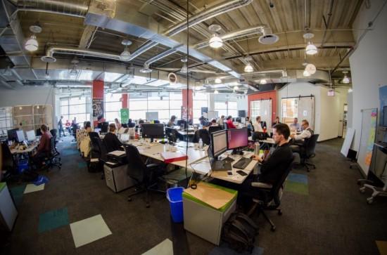 The new IBM Bluemix Garage space in Toronto.