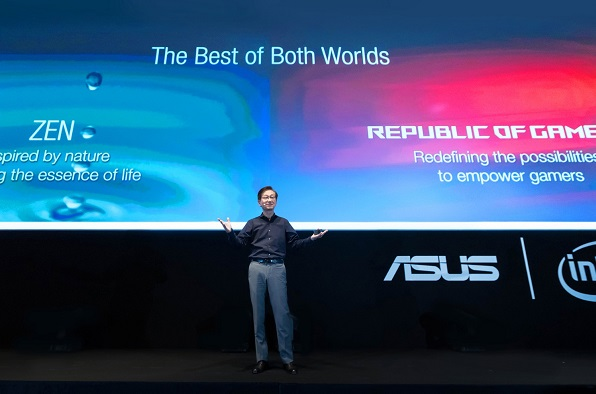 ASUS Chairman Jonney Shih introduces the latest lineup of innovations at press event