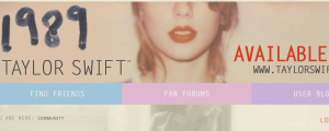 Taylor Swift website