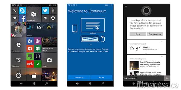 Lumia 950XL screenshots