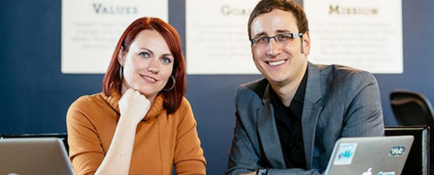 OneStory founders Katrina German and Dale Zak. Courtesy OneStory. Photo Credit: David Stobbe, Stobbephoto.ca