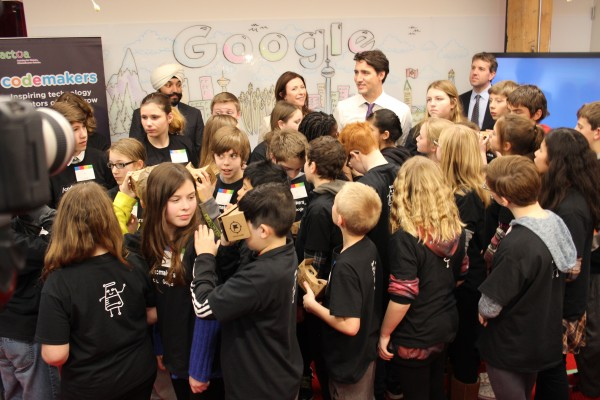 Trudeau with Codemakers
