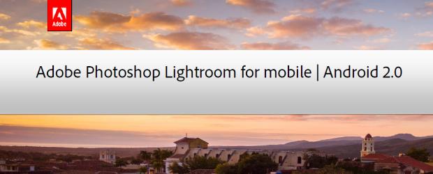 Adobe Photoshop Lightroom for Mobile header 2