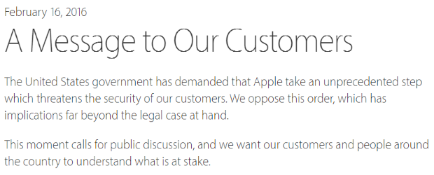 Apple announcement header