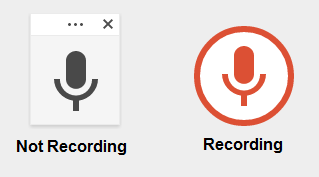 Google Docs microphone icons