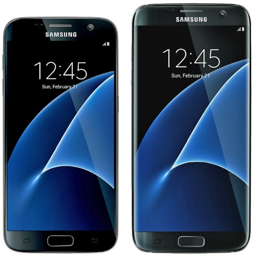 The 5.1-inch Galaxy S7 (left) and 5.5-inch Galaxy S7 Edge (right). Credit: Evan Blass