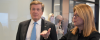 John Tory, Mayor of Toronto; Alison Gleeson, SVP, Americas, Cisco.
