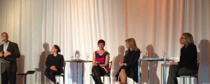 Panel International Women's Day 2016 - Host Eddie Pate, Avanade. Panelists: Farah Mohamed, Girls20; Dr. Sam Collins, Aspire Foundation; Toni Hendler, Avanade: Suzanne Gagliese, Microsoft