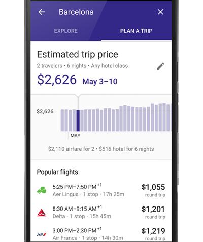 Google Destinations - Plan-A-Trip