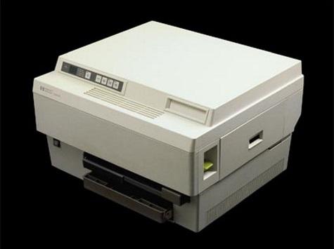 HP slideshow 6 - First office laser printer