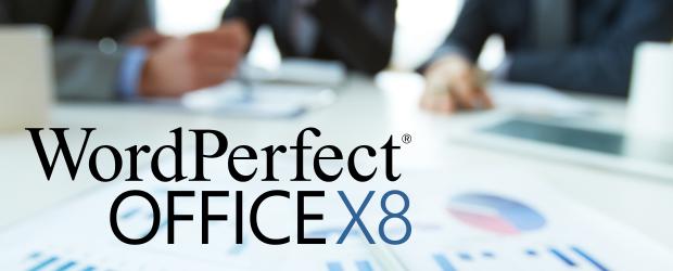 WordPerfect Office X8 header