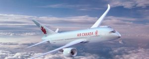 Air Canada - 787 plane in clouds