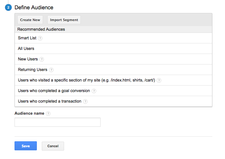 Analytics for AdWords 2 - Using smart lists