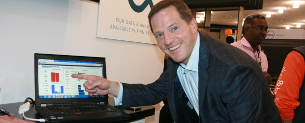 Dun & Bradstreet executive vice president Mike Sabin shows off the company's new data management NetSuite app.