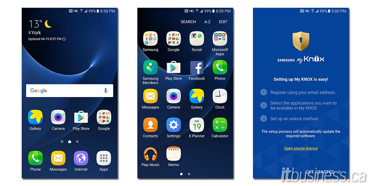 Galaxy S7 screenshots