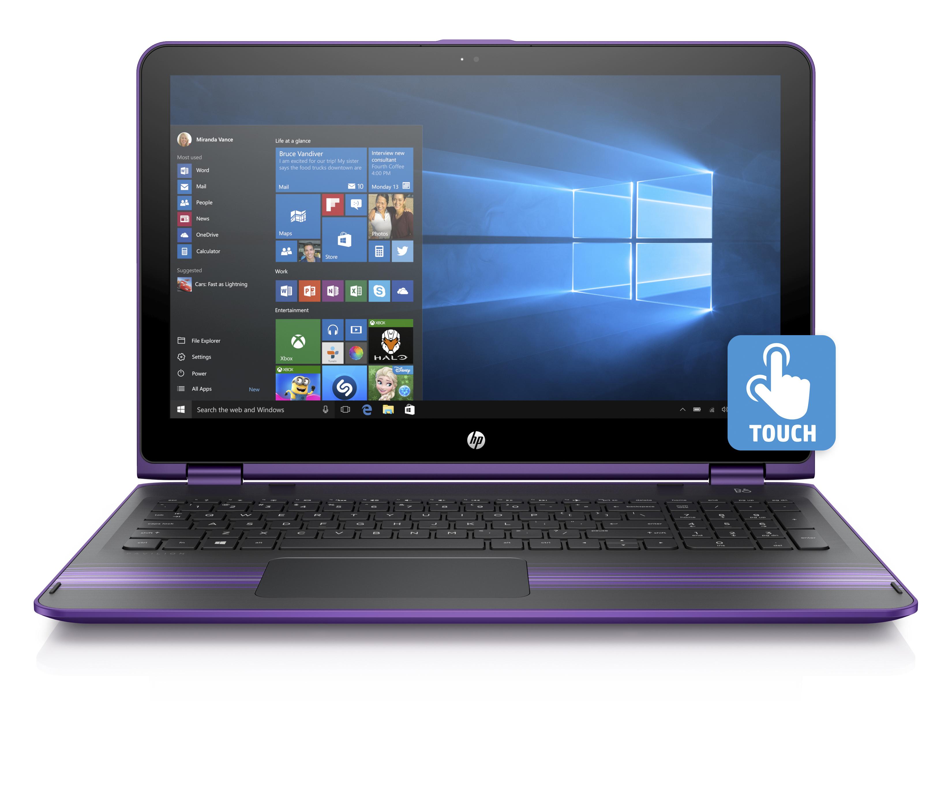 HP back to school slideshow 3 - HP Pavilion x360 15.6_Sport Purple_Front Facing