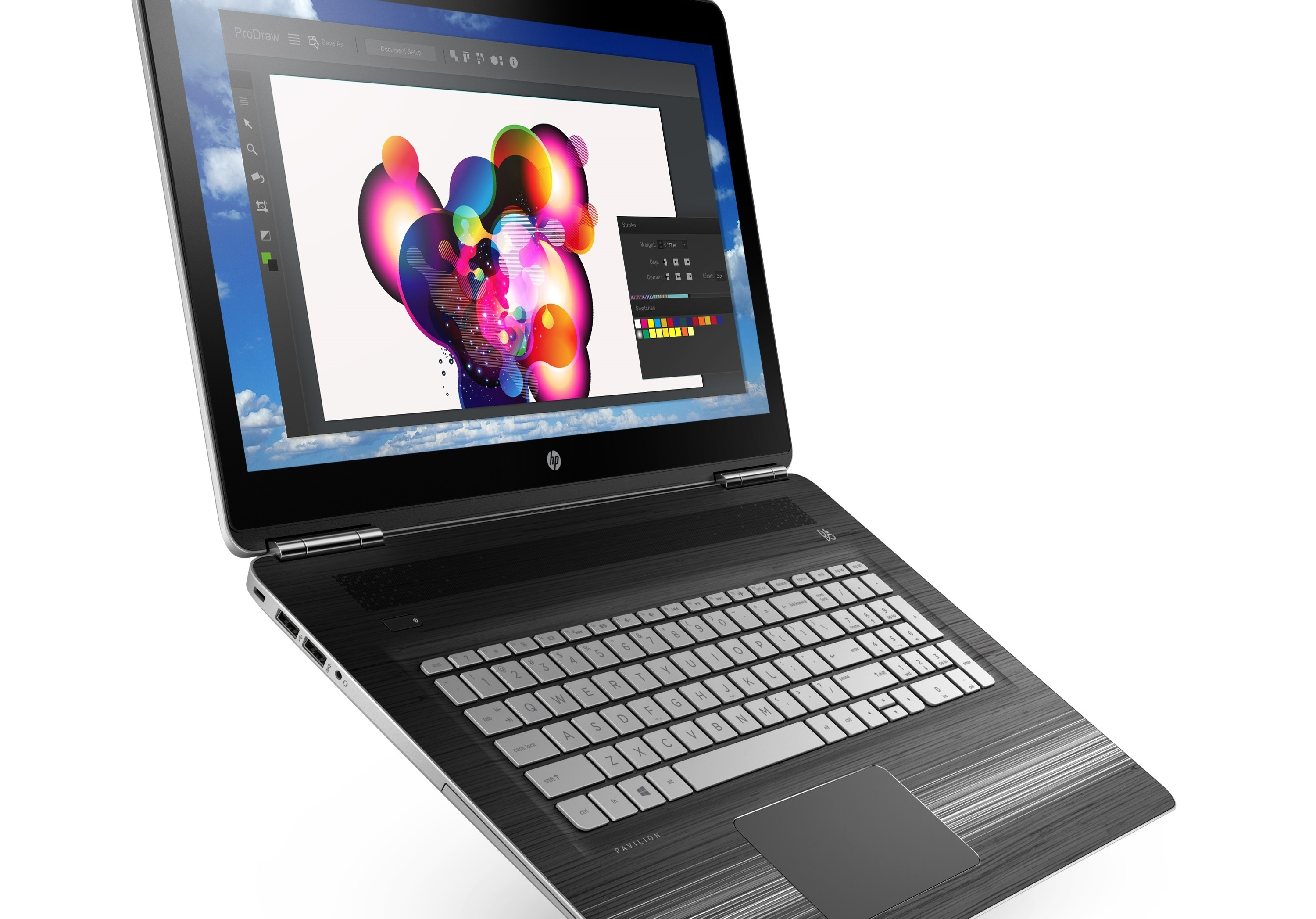 HP back to school slideshow 6 - HP Power Pavilion 17.3_Modern Gold_Right Facing, Dancing-4