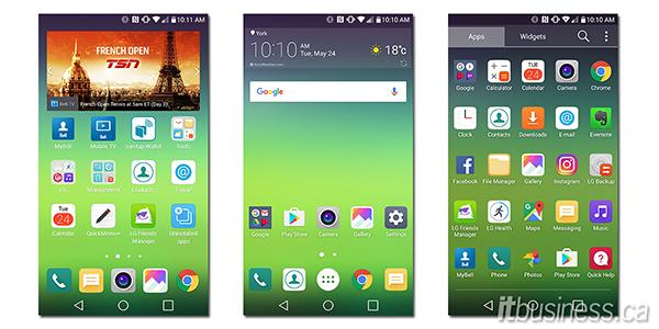 LG G5 screenshots