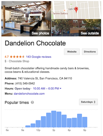 Google Knowledge Panel example