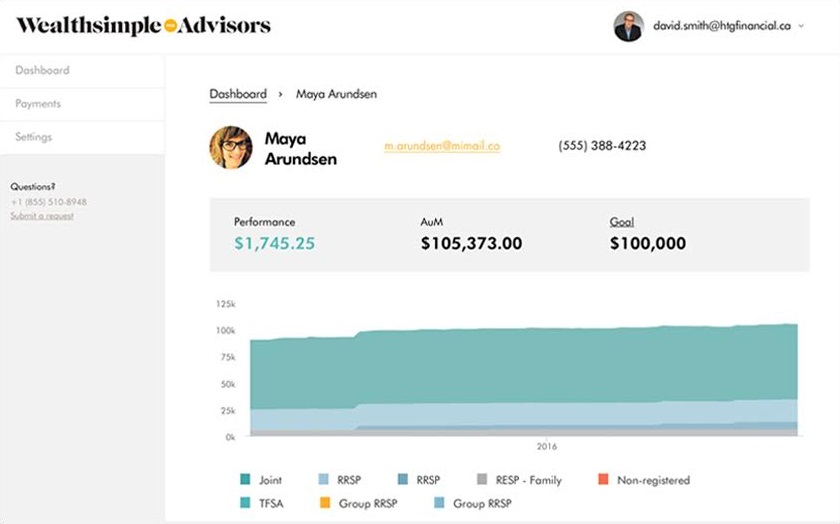 Wealthsimple Advisors screenshot