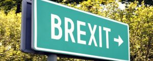 Brexit - next exit sign