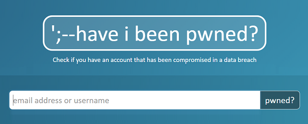 Have I Been Pwned header