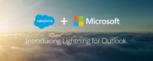 Salesforce Lightning for Outlook header