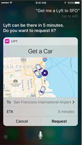 iOS10 - Siri - Lyft