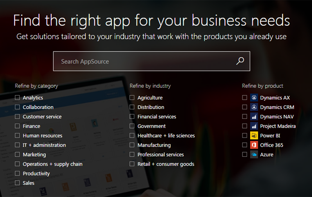 AppSource screenshot