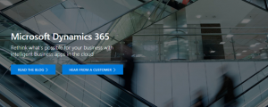 Microsoft Dynamics 365 header