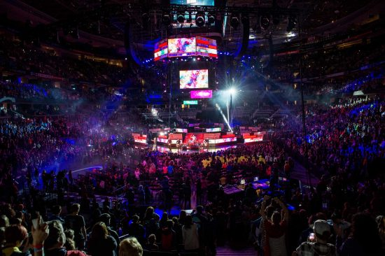 16,000 students and educators pack the Canadian Tire Centre on November 10, 2015 for WE Day Ottawa. Photo Credit: Quame Scott for We Day