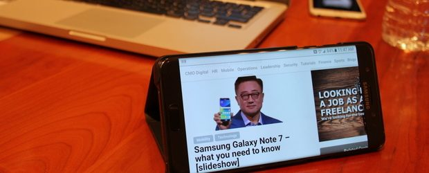 Samsung Galaxy Note 7 - in case feature