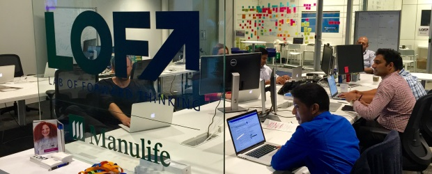 The LOFT office in Toronto, which is currently developing an AI-based financial services application for its parent company, Manulife. (Courtesy Manulife)