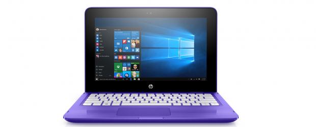 HP Stream - front purple