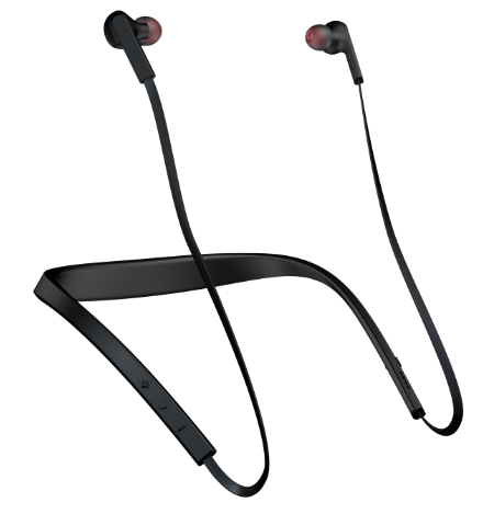 Jabra's Halo Smart Bluetooth earbuds are designed with a band that fits around your neck.