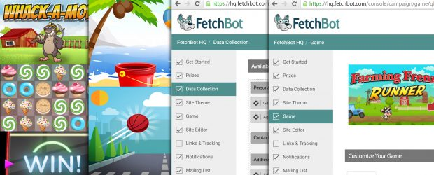 FetchBot games feature