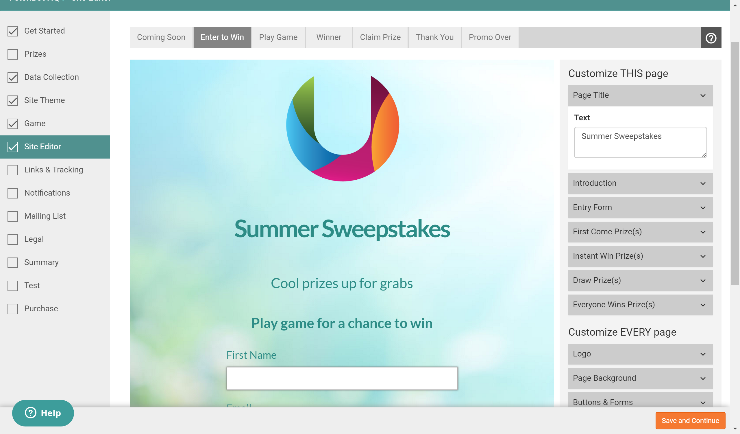 Fetchbot - summer sweepstakes