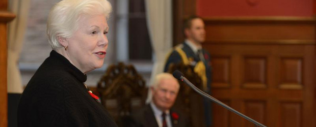 Ontario Lt.-Gov. Elizabeth Dowdeswell, who delivered Ontario's speech from the throne on Sept. 12. (Courtesy the Governor General of Canada's website.)