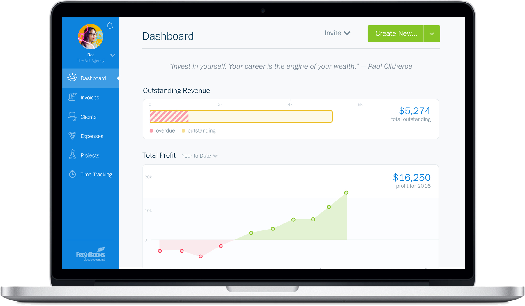 new-freshbooks-dashboard