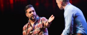 Former MTV, The Hour, and Hockey Night in Canada host - and newly-minted YouTube star - George Stroumboulopoulos speaks with Google Canada's head of public affairs, Aaron Brindle, at the YouTube Pulse event on Sept. 14.