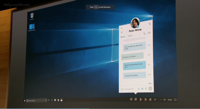 "New ""Most Important Contacts"" features in the Windows 10 Creators Update."