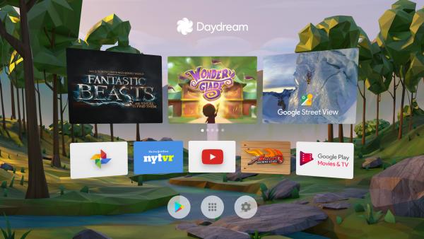 Daydream home screen UI