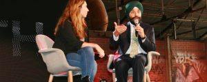 Federal Minister of Innovation, Science, and Economic Development Navdeep Bains speaks to attendees at Google Canada's Go North Canadian startup conference on Oct. 28.