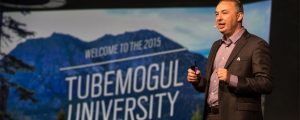 TubeMogul CEO Brett Wilson speaks at 2015's TubeMogul University conference in Lake Tahoe, Calif. (Courtesy TubeMogul)