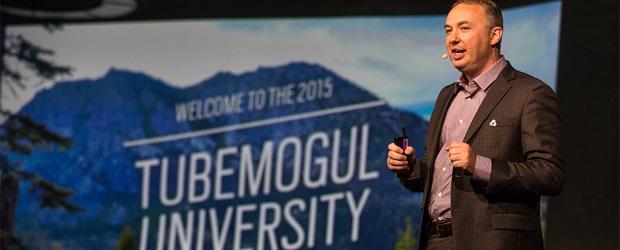 TubeMogul CEO Brett Wilson speaks at 2015's TubeMogul University conference in Lake Tahoe, Calif. (Courtesy TubeMogul)