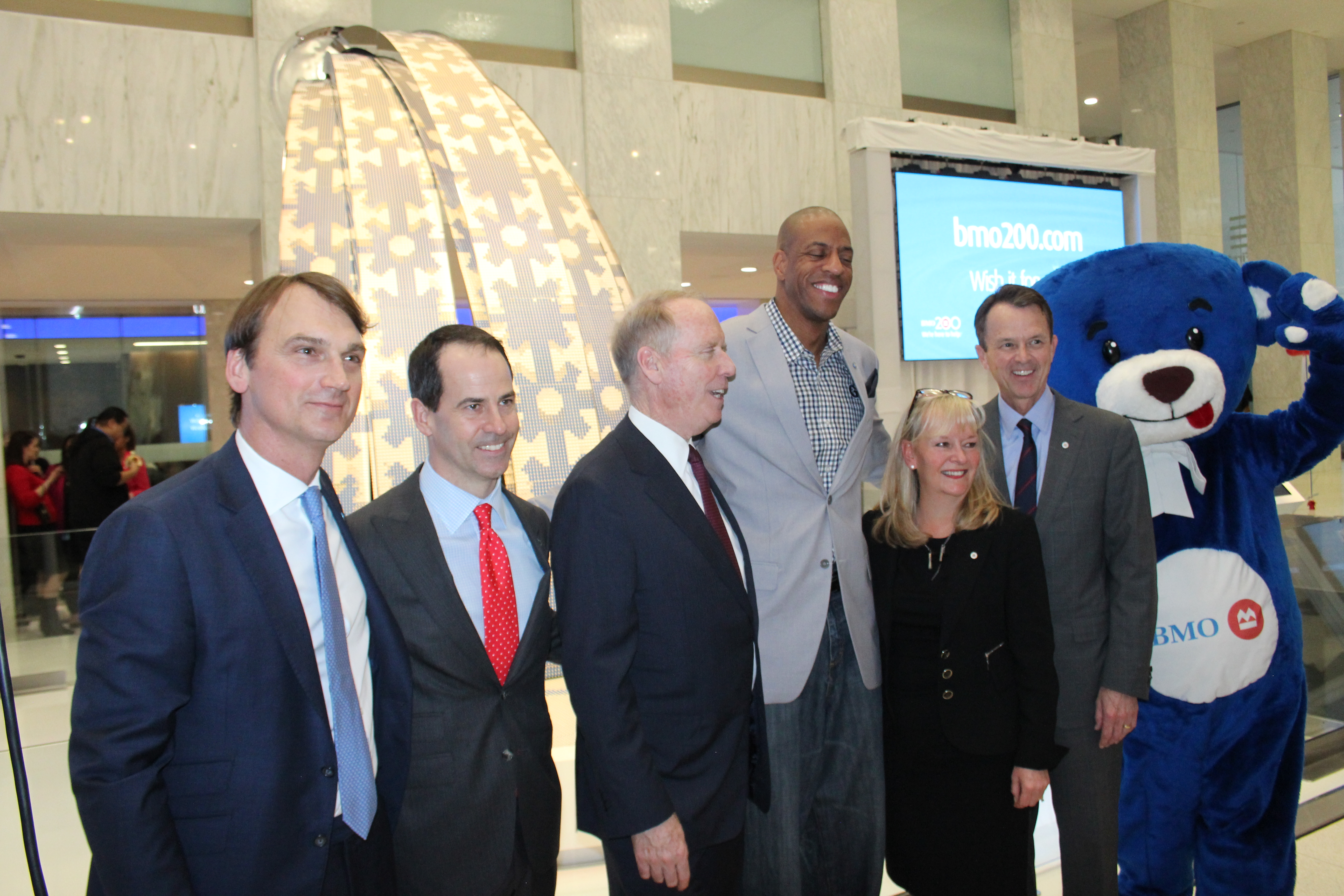 BMO Executives with Jerome Williams