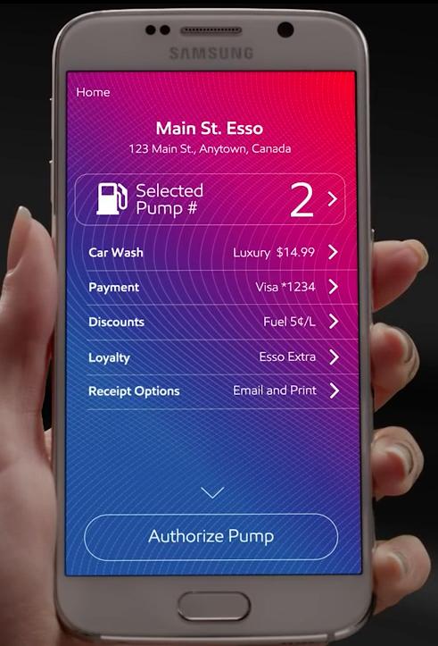 Speedpass+ app - menu screen